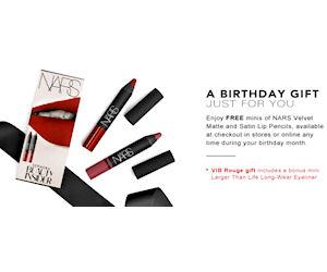 Free Nars Lip Pencils Birthday Gift with Sephora Beauty Insiders ...