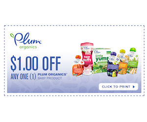 photograph regarding Plum Organics Printable Coupon named Plum Organics Child Food items Pouches - $1 Off Coupon (+Kroger