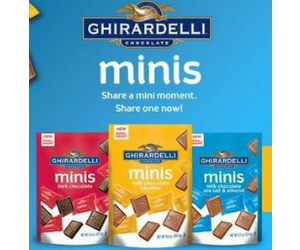 image regarding Ghirardelli Printable Coupon titled Ghirardelli - Coupon for $1.00 off 1 Ghirardelli minis pouch