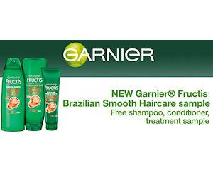 Free Garnier Fructis Brazilian Smooth Haircare Sample Pack - Free ...