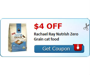 image relating to Rachael Ray Cat Food Printable Coupons known as Rachael Ray - $4 Off Dry Cat Meals Coupon + Walmart Bundle