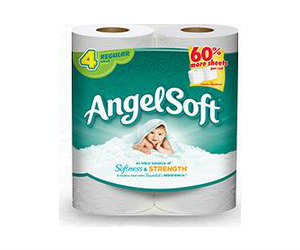 photograph regarding Family Dollar Printable Coupons titled Angel Comfortable Tub Tissue 4ct $1.80 at Family members Greenback with
