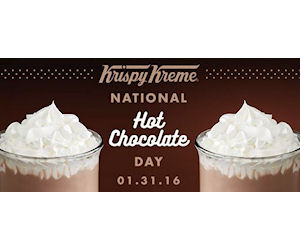 Free Hot Chocolate Sample at Krispy Kreme - Today - Free Product ...