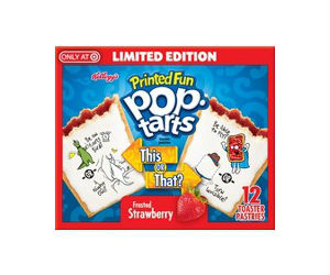 photograph regarding Pop Tarts Coupon Printable known as Kelloggs Strawberry Pop-Tarts Basically $0.98 at Concentrate with