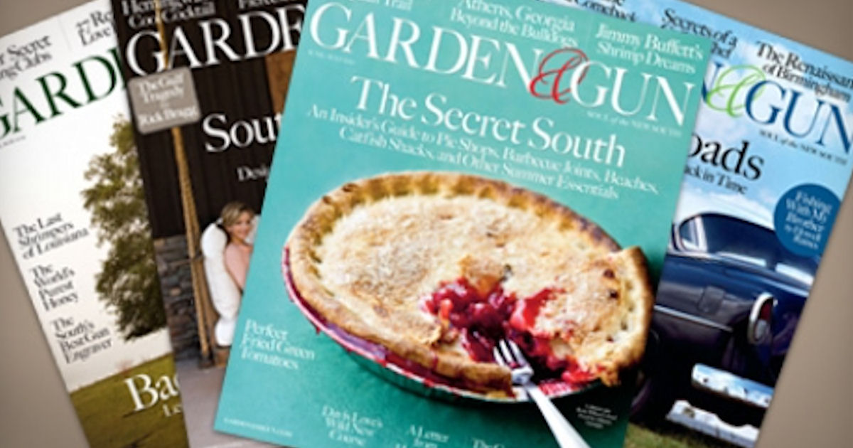 free subscription of garden gun magazine - Garden And Gun Magazine