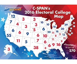 Teachers - Free C-SPAN 2016 Electoral College Map Poster - Free
