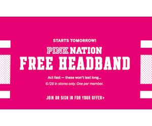 15b947db9a Free Pink Nation Headband at Victoria s Secret - Free Product Samples