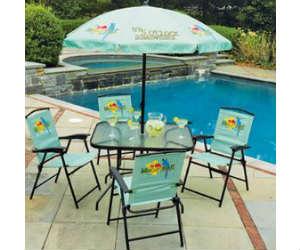 Win A Margaritaville 6 Piece Folding Patio Set With Umbrella