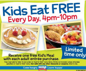 IHOP Kids Eat FREE is Back!