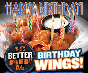 10 FREE Boneless Wings with Ho...