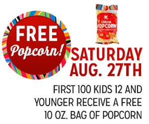 FREE 10oz Bag of Popcorn!