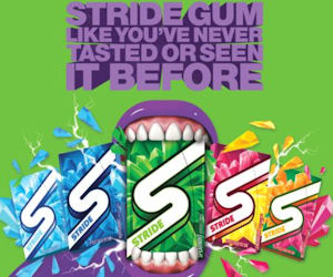 2 FREE Packs of Stride Gum!
