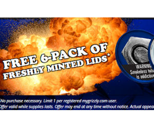 FREE 6-Pack of Grizzly Freshly...
