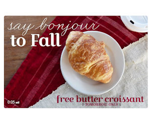 FREE Butter Croissant at La Ma...