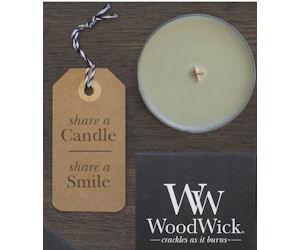 FREE WoodWick Petite Candle -.