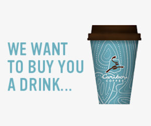 FREE Drink with Caribou Coffee...