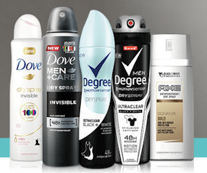 Free Full-Size Dove or Degree Dry Spray Deodorant