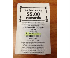 Expired Extrabucks at CVS