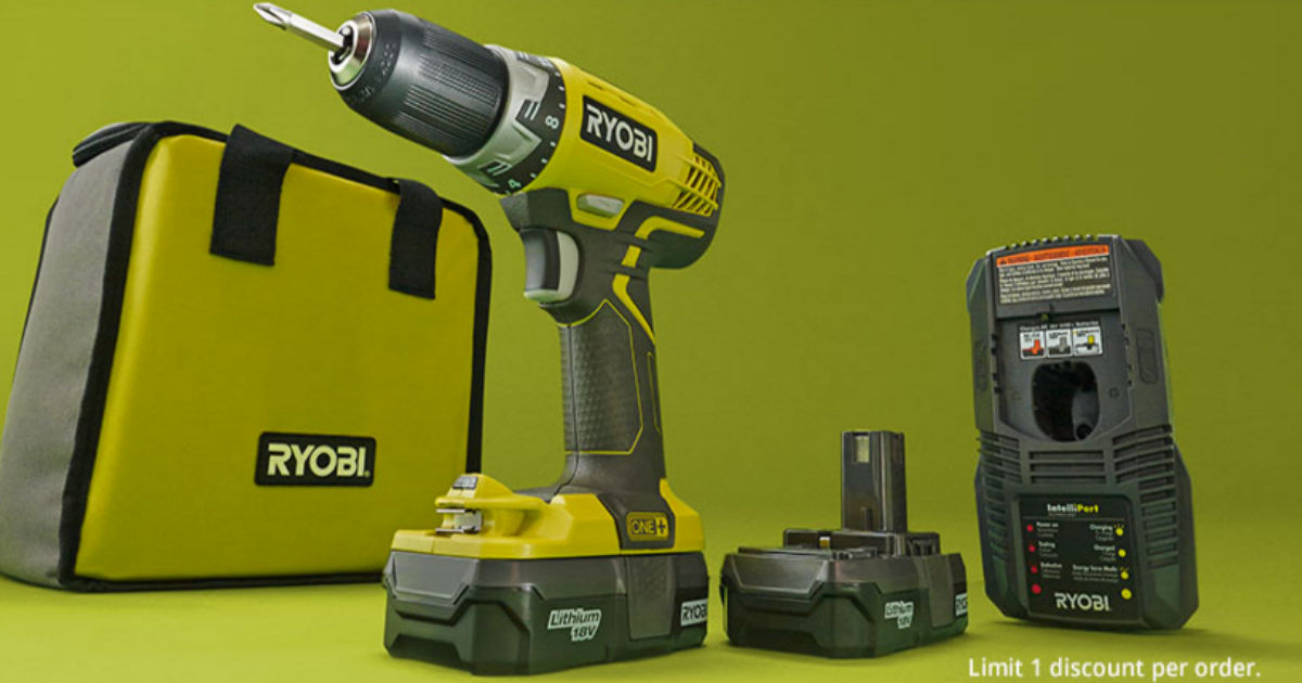 last chance buy one ryobi power drill get one ryobi tool free daily deals coupons. Black Bedroom Furniture Sets. Home Design Ideas