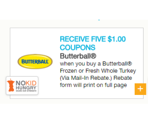 image relating to Printable Rebate named Help you save $5 with a Butterball Turkey Rebate - Printable Discount codes