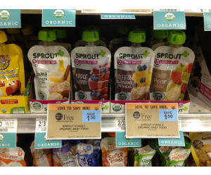 Sprout Organic Baby Food Pouches at Publix