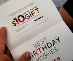FREE $10 Kohl`s Gift Card for.