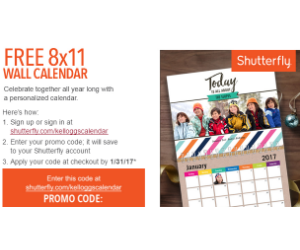 Free Shutterfly Calendar With Kellogg S Family Rewards Daily Deals Coupons