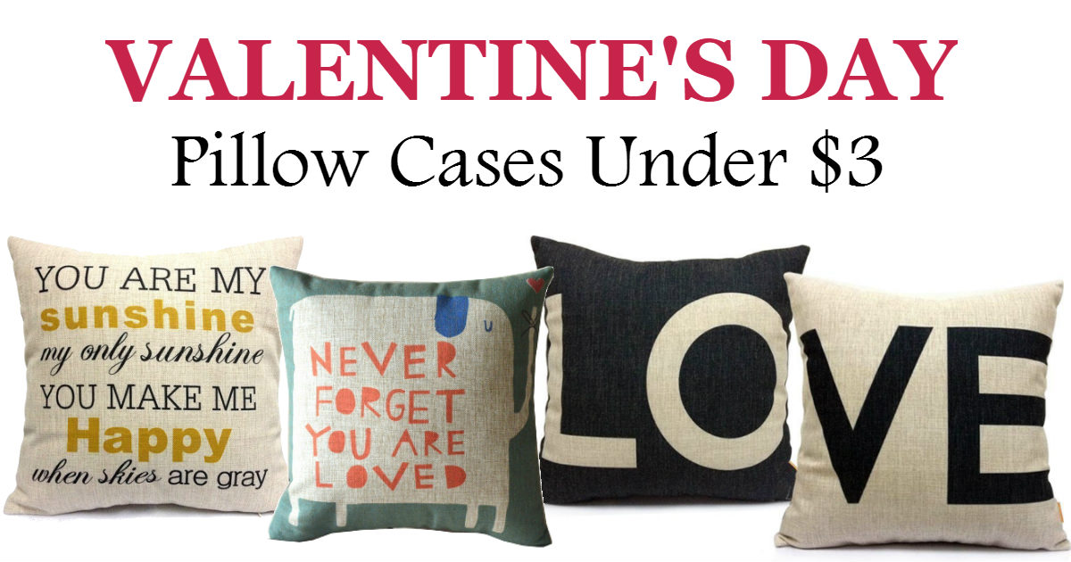 Cute Valentine s Day Inspired Pillow Cases Under $3.00 Shipped - Daily Deals & Coupons