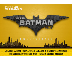 Popular Mechanics Sweepstakes >> Win A Private Movie Screening Of The Lego Batman Movie