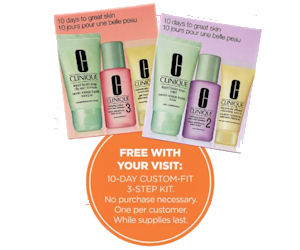FREE Clinique 3-Step Kit at Ul...