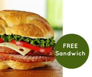 FREE Sandwich with the Honeyba...