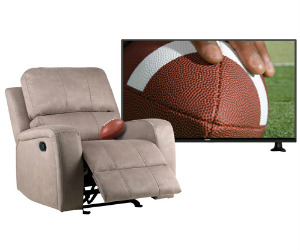 win a led tv or savannah recliner from badcock home furniture