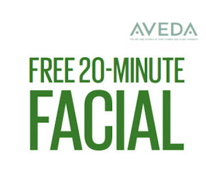 FREE 20-Minute Facial at Aveda...