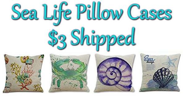 Sea Life Pillow Cases on Amazon