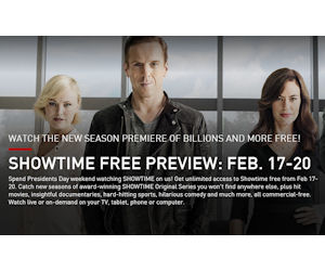 FREE Showtime Preview Weekend.