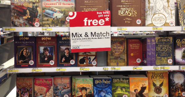 buy two  get one free harry potter books at target with