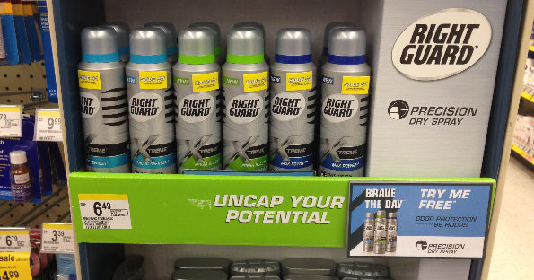 FREE Right Guard Dry Spray at Walgreens