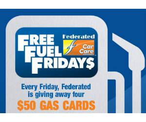 Win 1 Of 4 50 Gas Gift Cards From Federated Car Care Free