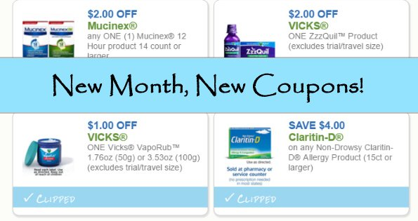 New Month, New Coupons