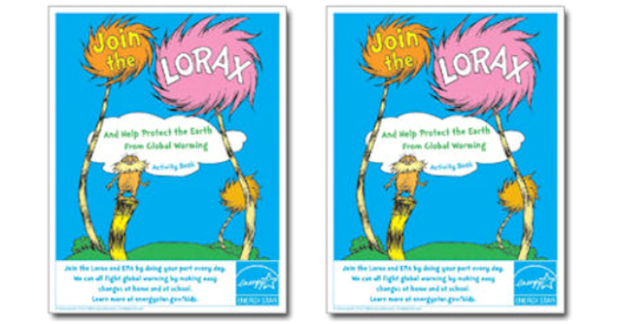 FREE Lorax Activity Book...