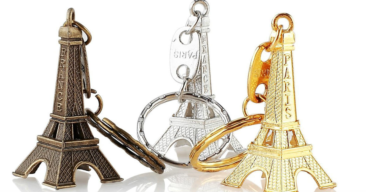 3d Eiffel Tower Key Chains on Amazon