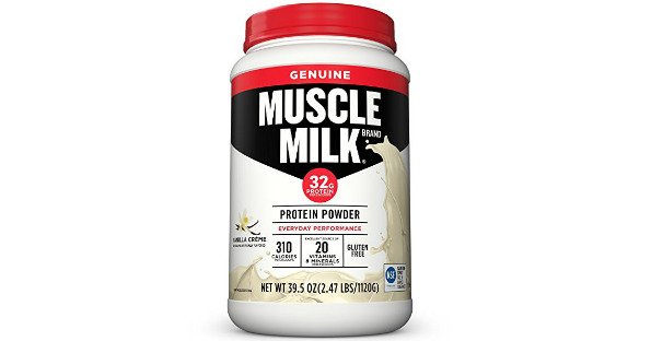 EVERYDAY PERFORMANCE - MUSCLE MILK Genuine Protein Powder contains 32 grams of protein and calories in every two scoops. It is an excellent source of Vitamins A, C, D, Calcium, Magnesium and Phosphorus for strong bones.