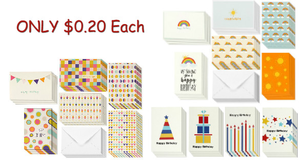 Amazon 48 Assorted Birthday Cards Envelopes 999 Shipped