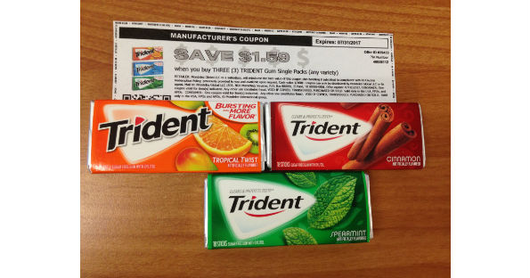 picture relating to Gum Coupons Printable identified as Trident Gum at Walgreens for $0.14 Each and every - Printable Coupon codes