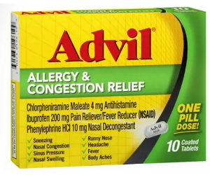 Advil Allergy & Congestion Relief at Walgreens