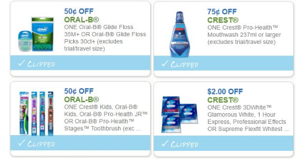 Oral Care Coupons, Print Today